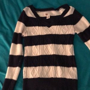 Navy and cream stripped sweater
